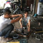 mechanic in Laos
