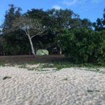 camping at the beach on Cape York