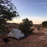 Wild camping in Utah